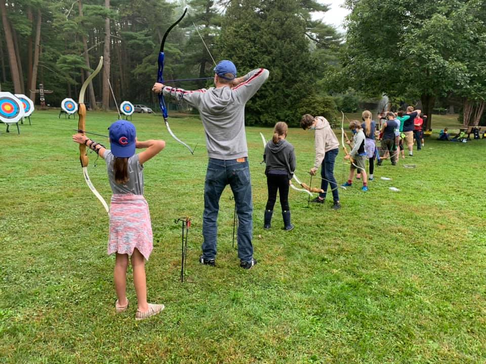 Archers on the line at Look Park Sattva Archery